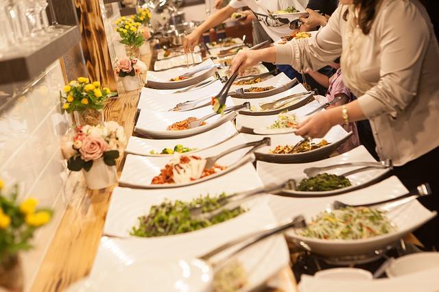 buffet montado em evento